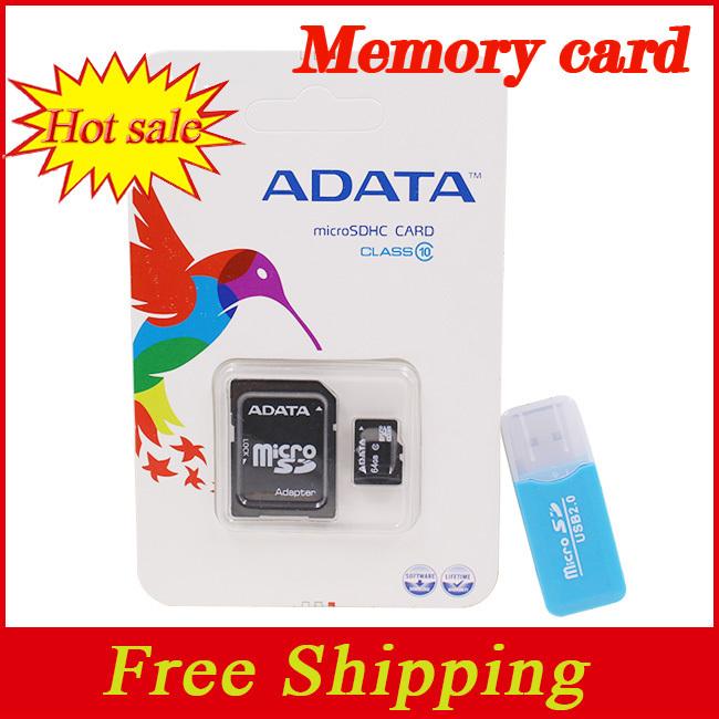 ADATA memory card micro sd card 32GB class 10 2GB 4GB 8GB 16GB 64GB flash Memory tf cards+Free reader hot sale pendrive(China (Mainland))