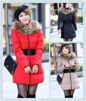 new 2014 fashion winter jacket women,casual adjustable slim winter coat women parkas, winter jacket&coat women