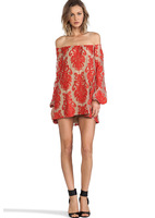 2014 for love and lemons dresses red and white color