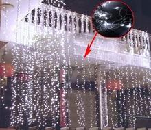 400 LED Icicle Christmas Holiday Light Wedding Party Garden Xmas Decoration 3Mx3M Curtain Light With Tail Plug EU/220V T1197(China (Mainland))