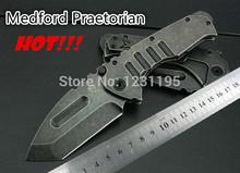 Outdoor multitool knife High Quality Medford Praetorian Stonewash Steel Handle 440 Blade Tactical knife folding hunting knife(China (Mainland))