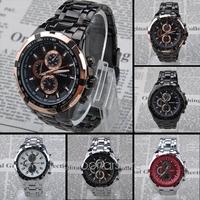 2014 Fashion Stainless Steel Band  Mens Quartz Wrist Watch Luxury Sport Analog Watch Free Shipping 26MHM106#S5