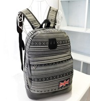 New 3 Color Bohemia National Striped Design Canvas Women men's Casual laptop Backpack Unisex Student School/Travel/Computer Bags
