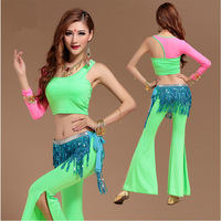 New 2015 Bollywood Dance Costumes Gypsy Clothing Women Costumes For Dance Vestido Indiano Belly Dance Costume Set 4 Colors