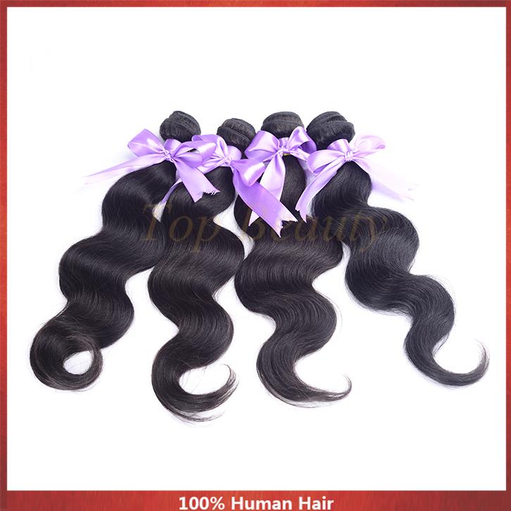 "Grade 4A Brazilian Virgin Hair Body Wave 8""-30"" 100G 4Pc/lot Brazilian Body Wave Bundles Fabulous Brazilian Hair Weave Online(China (Mainland))"