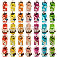 new item Lovely M&M Case listen music dance go shopping design Colorful  Defender Back Rainbow Beans Cover for iPhone 5 5g
