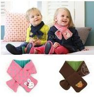 Free shipping New children's scarf Kids boy girl warm Shawl Winter bear style Neck Warmer 1pc WJ015