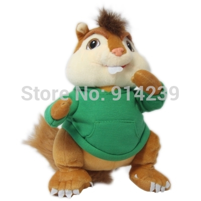 product fREE SHIPPING  ALVIN AND THE CHIPMUNKS CHARACTER PLUSH STUFFED TOY 25cm THEODORE SOFT DOLL FIGURE THEODORE