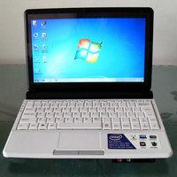 "10"" Laptop Intel Atom D2500 Dual Core 1.86Ghz Windows 7 Netbook 1GB RAM 160G HDD Mini Laptop WiFi Webcam Free Shipping"