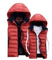 2014 new winter jacket men Warm Man's outdoors down jacket Fashion Waistcoat , 2014 men vest slim casual winter coat