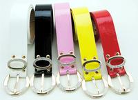 Free shipping  new 2014 women leather belts black rhinestone belt