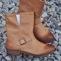 USA Brand New 2014 Fashion Autumn Women's Genuine Leather Motorcycle Boots,Ladies BuckleRubber Martin Boots Footwear