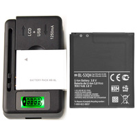 New Original Battery BL-53QH & Charger For LG Optimus L9 Optimus 4G MS769 2150 mAh