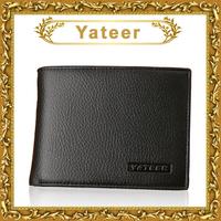 designer fashion man organizer purse with ID window flip up luxury patchwork man wallets