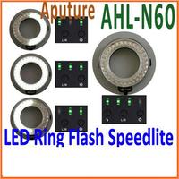 LED Ring Flash Speedlite AHL-N60 for Nikon 60 Leds 5200K-5800K Free Shipping+Drop Shipping Wholesale