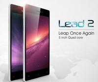NEW ARRIVAL Leagoo Lead 2  Mobile Phone 5 Inch OGS IPS MTK6582 Cortex A7 Quad Core CPU 1.3GHz Dual Cameras