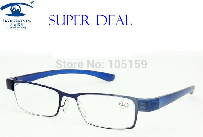 Eyewear & Accessories Fashion Reading Glasses 2.00 Blue Color Slim Read Glass Men(China (Mainland))