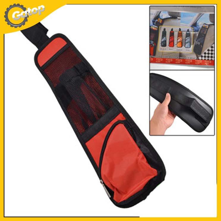 Car Auto Back Seat Hanging Seat Side Storage Case Pocket Car Organizer Back Seat For Lada Priora Pocket Red Free Shipping(China (Mainland))