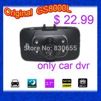 "100% Original GS8000L Car DVR H22 Glass Lens 1080P 2.7"" LCD Car Recorder Video Camera with G-sensor NOVATEK chipset GS8000  H18B"