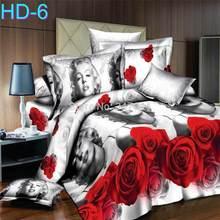 Luxury New 3D HD Reactive Printing BEDDING 4pcs Bedding Set duvet cover set , king size(China (Mainland))