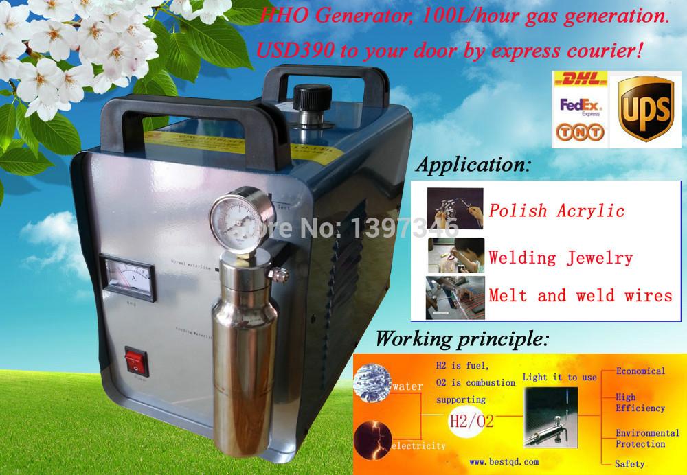 Free shipment jewelry welding machine Hho Welding Machine100L On Sale(China (Mainland))