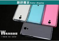100pcs x Factory Price Cheap Case Xiaomi 4 MI 4 Transparent Clear TPU Soft Plastic Case Cover For Xiaomi 4 Phone