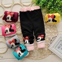 Lovely Cartoon Design Baby GIRL LEGGINGS Patchwork Toddler GIRL Pants  Kids Girl Underwear 7-24M 1pc DDK-1410