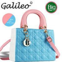 Brand leather handbag Elegant Lady Princess candy color handbags Vintage shoulder bags  women famous brands evening totes