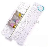 7 Day Rectangle Travel Portable Storage Box Travel Pill Case Plastic Medicine Box Free Shipping