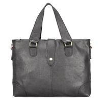 2014 briefcases men laptop bag Portable leather men's horizontal big bags genuine leather handbags