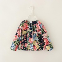 Children Floral Outerwear Baby Girls Fantasy Kids Coats & Jackets for New Autumn 2014 Fashion Brand Clothing Wholesale 6pcs/LOT