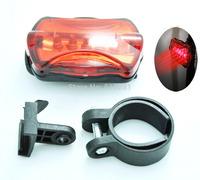 Free ship 2pcs/lot 5 LED 6 Mode Tail Rear flash light safety warning lamp Bike Bicycle Flashlight Light Lamp for cycling