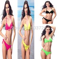 Hot Sale Strappy Swimwear Women Push up Bikini Set  Underwire Cups Swimsuit  5 Colors