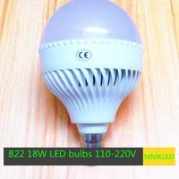 Wholesale High Power B22 18W LED Bubble Ball Bulb light 5730 SMD Led Lamp  AC110V-240V Light Led  Globe Lamp  Free Shipping