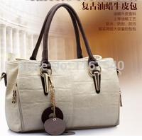 2014 women's fashion retro bag Leather single shoulder bag Genuine leather bags free shipping WX106B