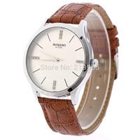Hot sales Men's Wear Brand Of High-Grade Leather Watch,Rhinestone Military Sports Luxury Quartz Watch Free Dropshipping