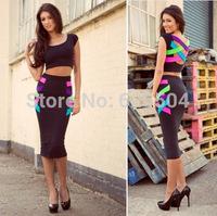 summer dress 2014 european and american bandage sexy hip pack Sexy Bodycon Clubwear Women New Fashion Dress