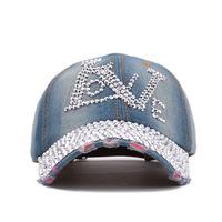 Korean diamond letters LOVE duck tongue baseball cap   lady lovely outdoor sunshade hats  women's and men's hat wholesale