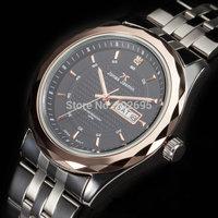 2014 fashion watch Brand JONAS JASMIN men watches Business Casual Luxury Date Day Analog Stainless Steel Quartz Mens Wrist Watch
