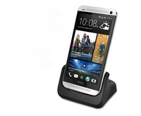 New  arrival Charging Dock Desktop Cradle Charger Adapter for HTC ONE M7 White black  free shipping