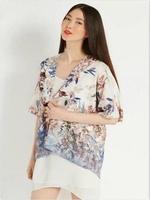 kimono cardigan outwear coat Floral Prints Kimono Coat Ladies Casual  Loose Outerwear Cape Blazer Jacket  Blouse  AY655645