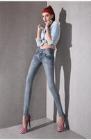 2014 high waist pencil pants fashion elastic skinny pants trousers jeans trousers Women  6007