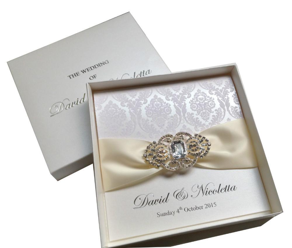 Rhinestone Wedding Invitations with luxury invitations sample