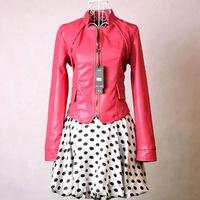 Factory Direct Winter Korean women wild fPU leather jacket, free shipping M~XL