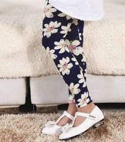5pcs/lot 2014 autumn hot sale girls Cartoon cat CC rose Floral printed leggings kids new style legging 11 pattern 634