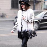 2014 New Fashion Plus Size S-XXXL Faux Fur Vest Winter Warm Women Outwear Fur Coat Waistcoat Colete De Pele All-Match Fur Jacket