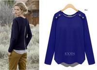 4XL Plus Size 2014 Autumn Women Hoody Casual Sweatshirt Moleton Feminino Long Sleeve O-Neck Sweatshirts Pullover Women Vestidos