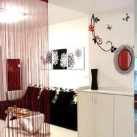 Solid Color Line String Window Curtain Tassel Door Room Divider Valance Ornament