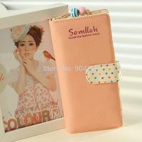 Fashional Brand Women Wallets Soft Leather Bowknot Clutch Wallets Long PU Card Horder Women Handbag Slim Purse