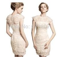 Free shipping 2014 wedding formal dress intellectuality formal dress fashion royal lace formal